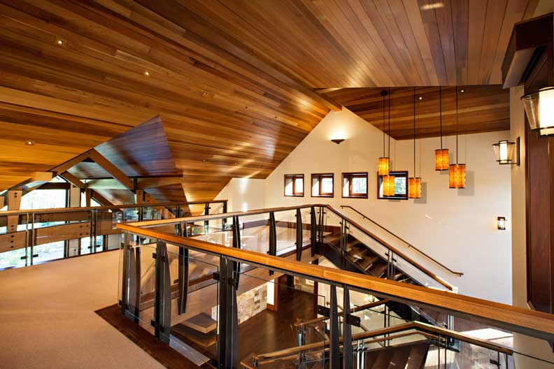 Exclusive timber frame home 27 hq pictures top timber for Tahoe architects