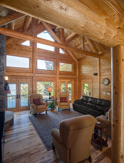 outstanding living room high ceiling | Outstanding Timber Home w/ High Ceilings (11 HQ Pictures ...