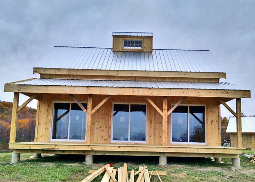 Ready to live 1 200 sq ft timber cabin for 22 836 top for A frame house kits for sale