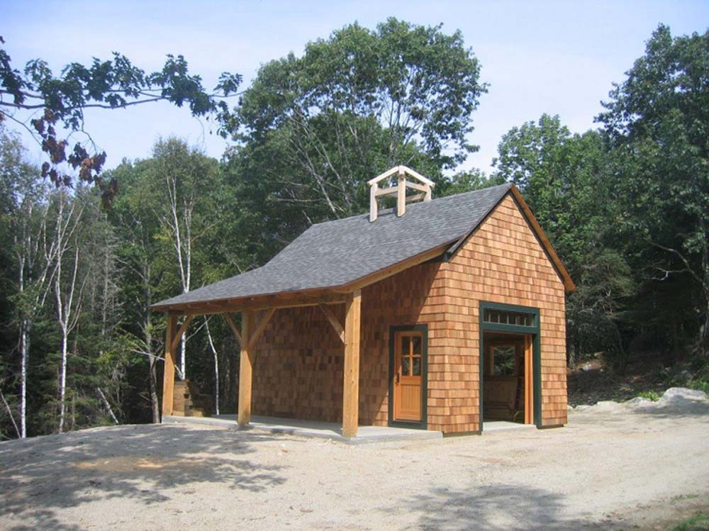 Timber frame barn package for only 62 580 top timber homes for Wood barn homes