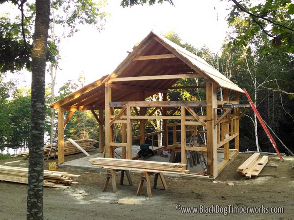 Timber frame barn package for only 62 580 top timber homes for Simple timber frame homes