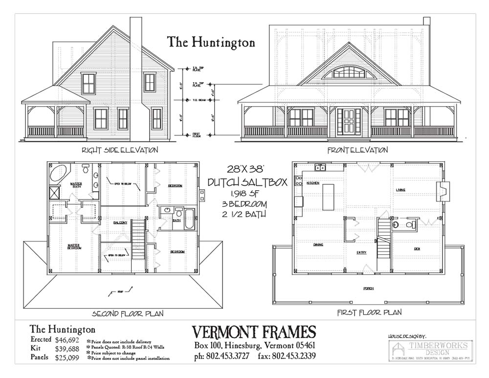 Amazing timber dutch saltbox home w 3 bedrooms top for Timber home floor plans