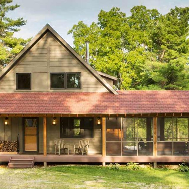 Cosy 1,600 Sq. Ft. Wooden Trout Fishing Cabin (8 HQ Pictures)