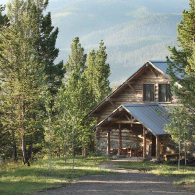 Fancy take on a rustic log house – must-see (19 HQ pictures)