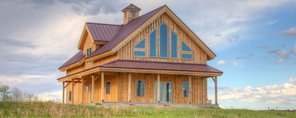 Pre-Designed Timber Frame Farmhouse Only $90,576 (16 HQ Pictures)
