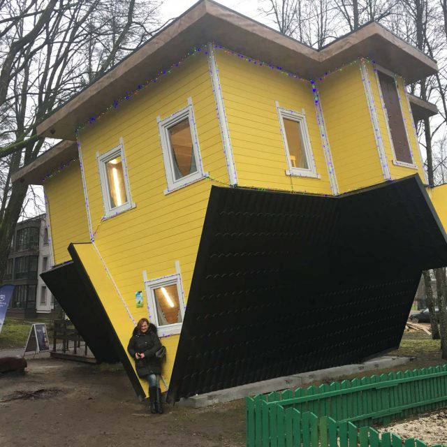 Upside-Down Illusionary Wooden House for Fun Lovers!