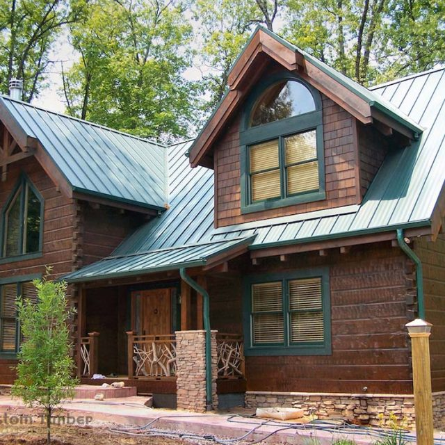 Beautiful Timber Home, plus a Peek at the Construction Process!