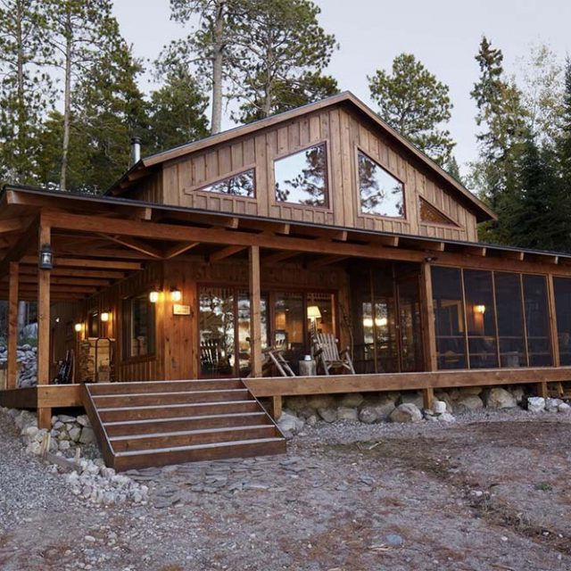 Impressive Timber Lakeside Cabin w/ Fire Pit (10 HQ Pictures)