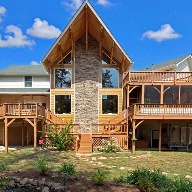 Stunning Two Level Timber Home