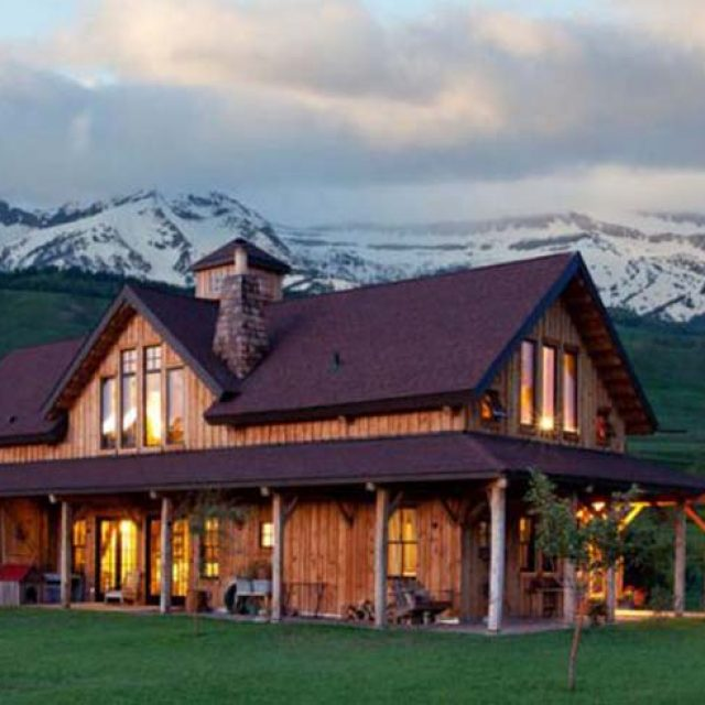 Beautiful Country Barn Style Timber Home w/ Wrap Around Open Porch (12 HQ Pictures)